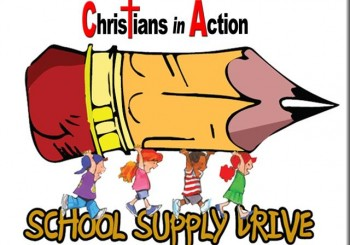School Supply Drive – July & August 2017